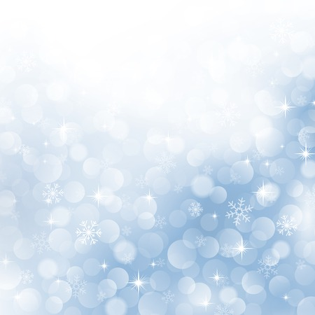 rime: winter background with beautiful various snowflakes Illustration
