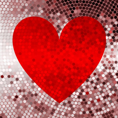 red abstract background: Holiday red abstract background with hearts
