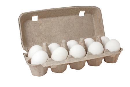 Eggs in a case photo