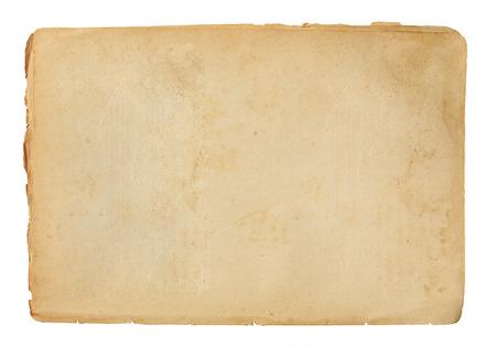 hoja en blanco: hoja de papel viejo aislado en un fondo blanco