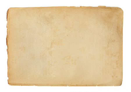 sheet of old paper isolated on a white background Reklamní fotografie - 26163115