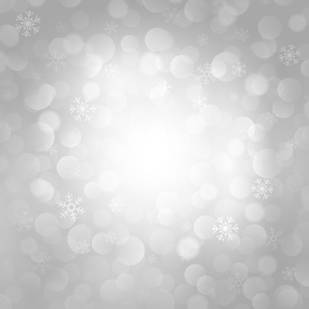 rime: vector gray background with snowflakes