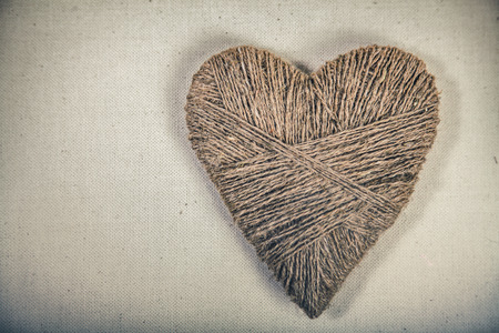 symbolic: Symbolic heart lies on a background, with place for your text Stock Photo