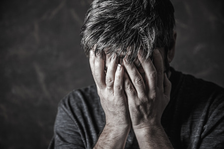 man closed his eyes to pray 写真素材