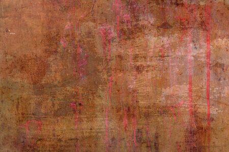 Oude grunge roestige zinkmuur Stockfoto