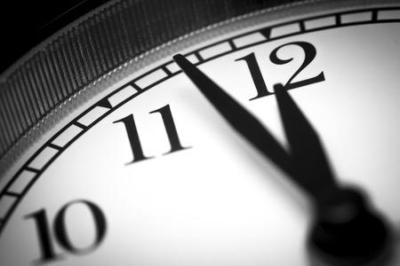 black clock hands: Photo alarm clock,  arrow close to12 hours