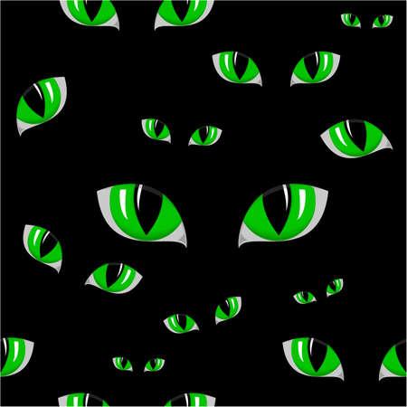 eye green: ilustraci�n de ojo de gato verde textura perfecta