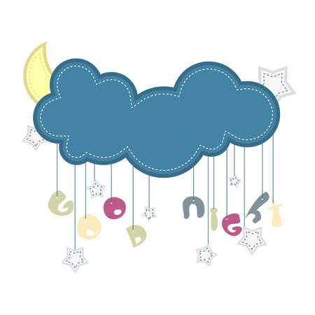 Vector illustration of icon Good Night text