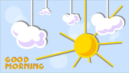 good weather: illustration of Good morning text background Illustration