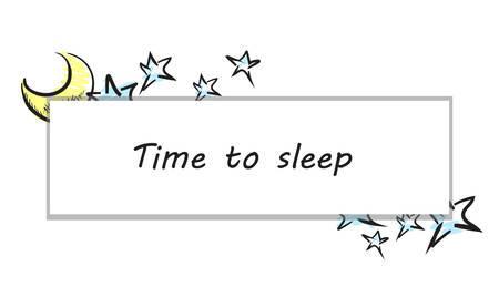 dreamlike: illustration of the moon and stars illustration