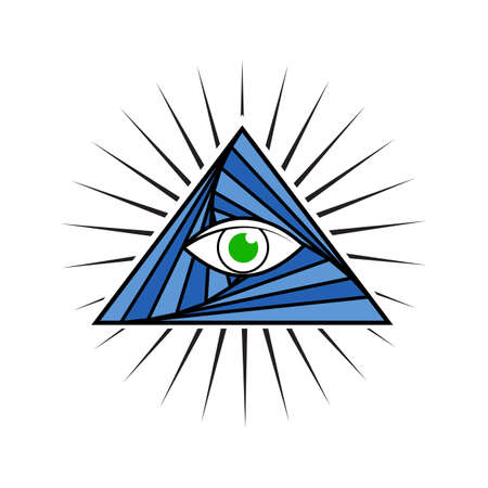 All Seeing Eye illustration.