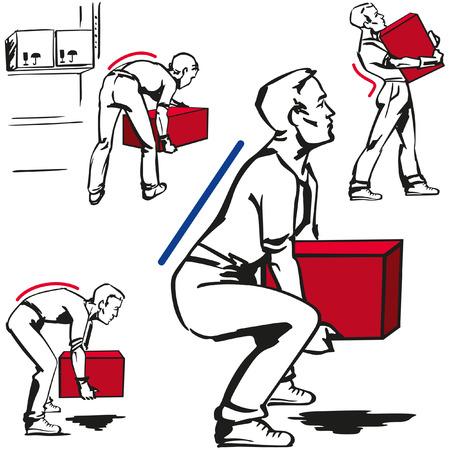 Handling of heavy items Vettoriali