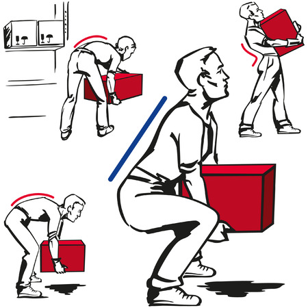 Handling of heavy items Illustration