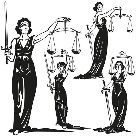 justiz: Lady Gerechtigkeit Illustration