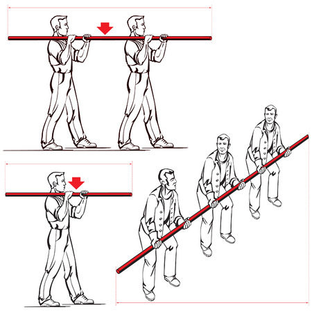 Veilig dragen van lange voorwerpen instructie