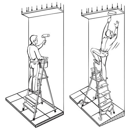 Veiligheid op het werk voor ladders instructie