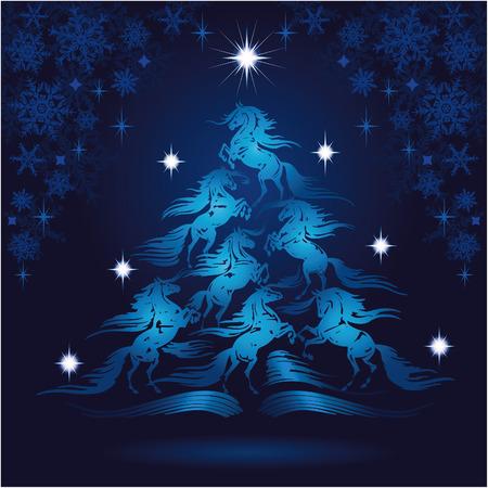 Paardenliefhebbers kerstboom 2 Stockfoto - 32886544
