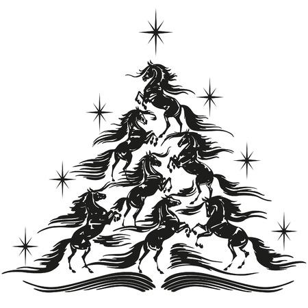 馬愛好家クリスマス ツリー 1