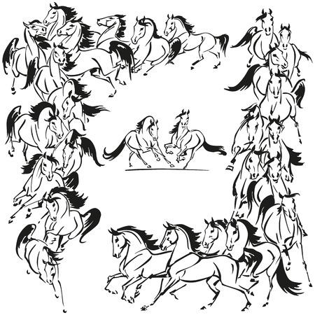 馬の装飾  イラスト・ベクター素材