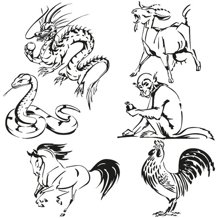 chinese zodiac: Asian zodiac