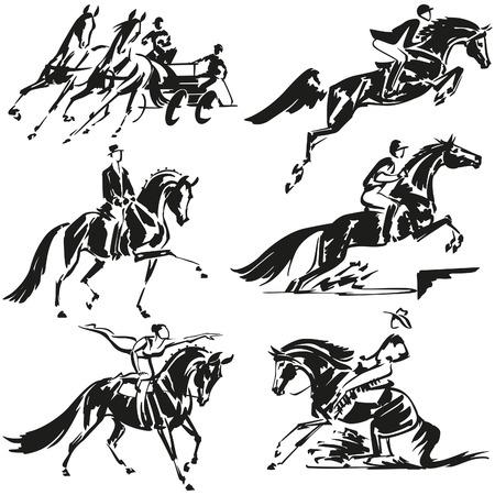 Jeździectwo Ilustracje wektorowe