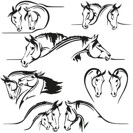 caballo negro: Seis cabezas de caballo 's Composiciones