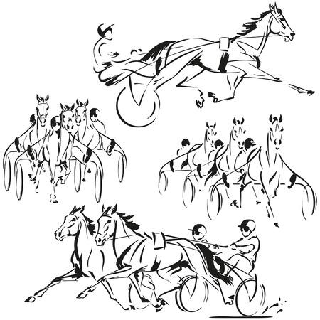 繋駕速歩レースのテーマ  イラスト・ベクター素材