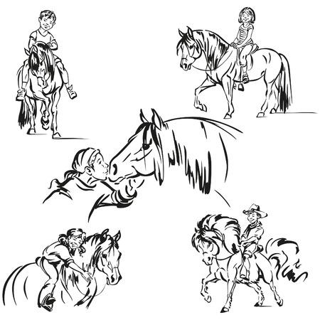 Pony Ranch scènes Stockfoto - 33052207