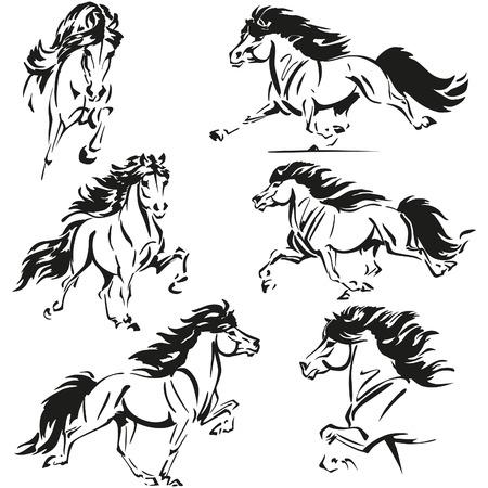 Icelandic horse themes Vector