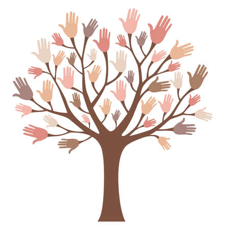 Hands tree Illustration