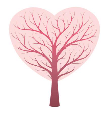 Heart vessels tree concept