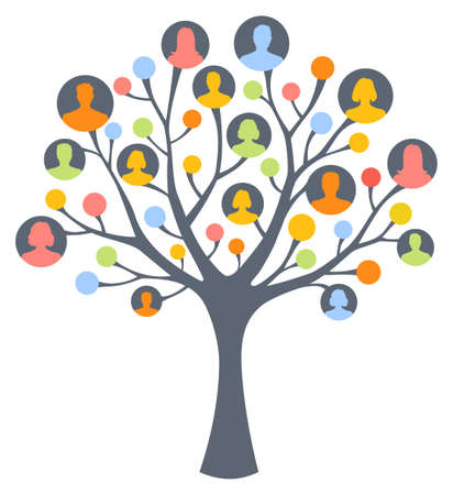 tree: Colorful human tree