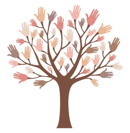 tree: Hands tree Illustration