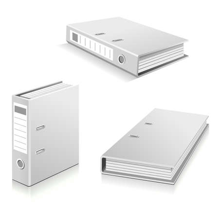 ring binders: White ring binders set