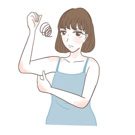A woman who cares about the upper arm