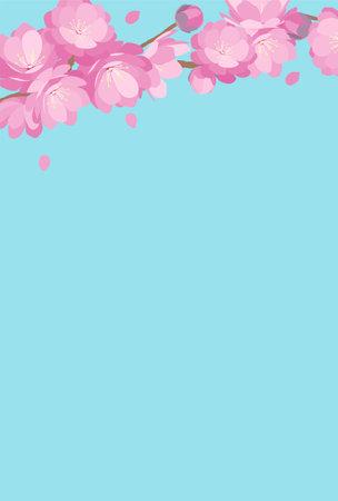 Peach Blossom japanese traditional hinamatsuri