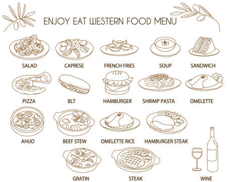 Western food icon illustration