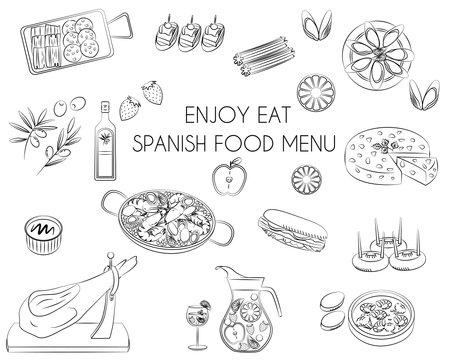 Spanish food icon vector illustration