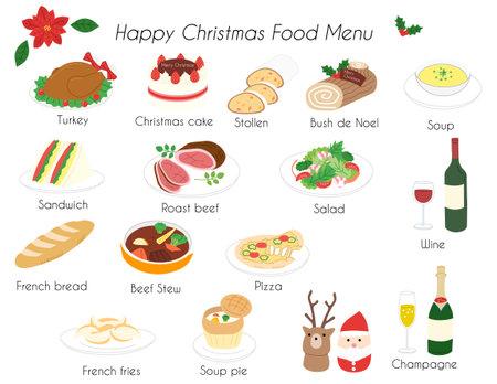 Christmas Holiday food menu icon vector illustration