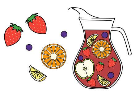 Sangria, fruit, bar, alcohol, Spanish food
