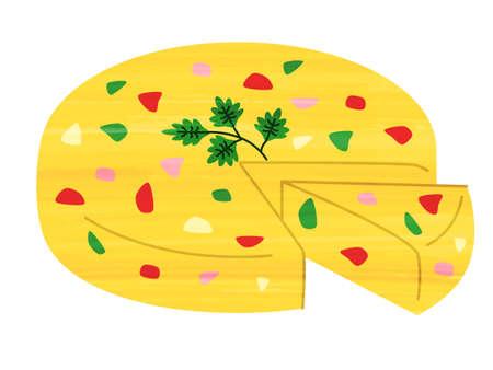 Omelet, vegetables, tapas, bar, Spanish food