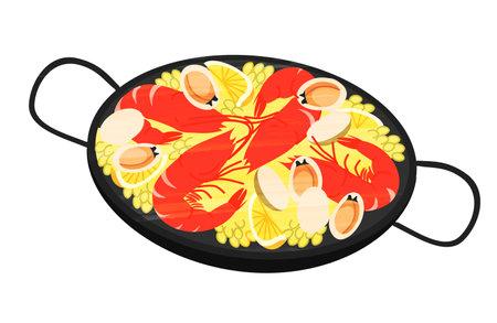 Prosciutto, tapas, bar, Spanish food Vektorové ilustrace