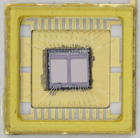 Close up del chip BIOS EPROM