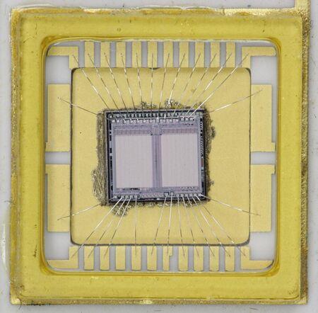 Close-up van de EPROM van de BIOS chip