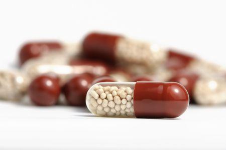 stapel medicijnen, ondiepe scherptediepte