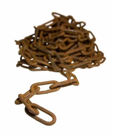 Heap of chain, shallow DOF � focus on first links. photo