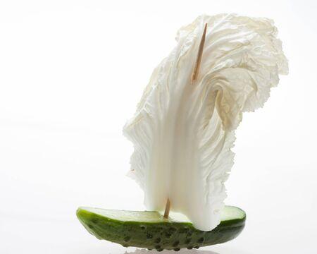 Nave di verdure isolati su bianco Archivio Fotografico