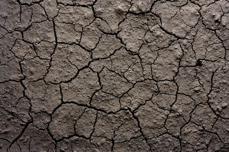 Closeup shot of dry eroded soil texture