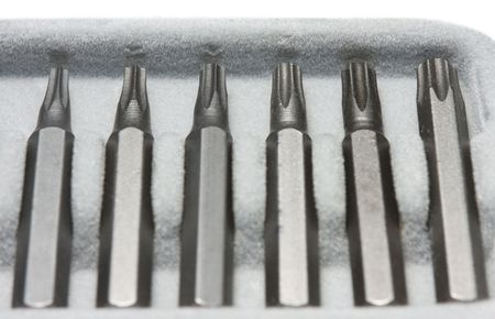 replaceable: Macro of replaceable screwdriver bits