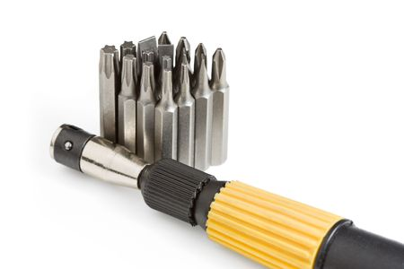 replaceable: Tool kit of screwdriver handle and replaceable bits
